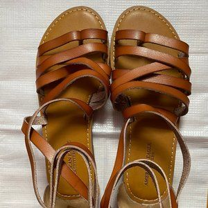AE Brown Strapped Sandals